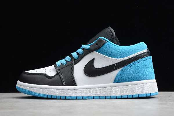 CK3022-004 New Air Jordan 1 Low Black/Laser Blue/White 2020 For Sale