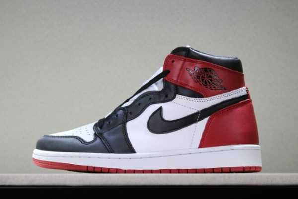 "Air Jordan 1s Retro High OG ""Black Toe"" White/Black-Varsity Red Free Shipping"