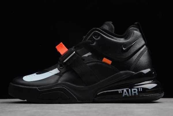 Men' s Off-White x Air Jordan 1 x Nike Air Force 270 Black/White