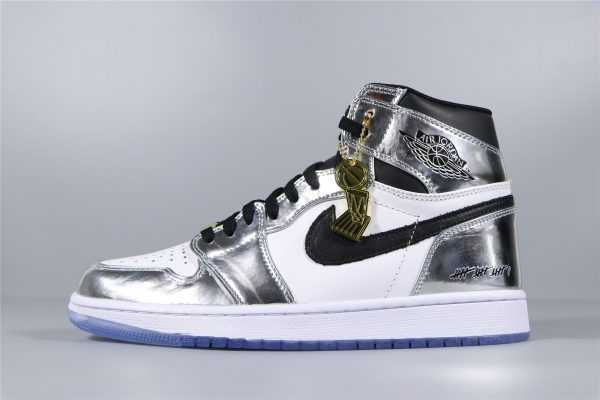 "2018 Air Jordan 1 High ""Pass The Torch"" Chrome/White-Turbo Green-Black AQ7476-016"