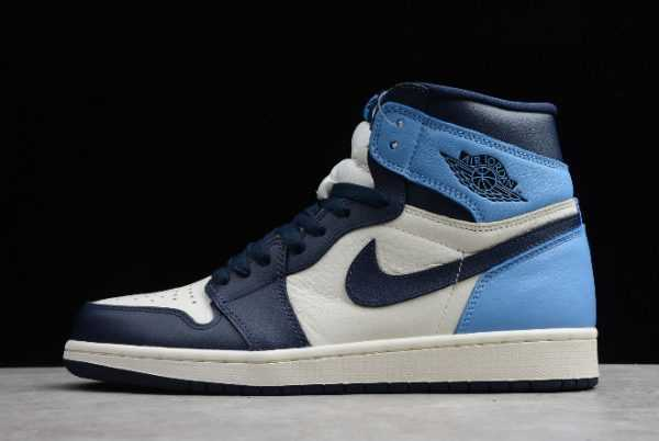 "Mens Air Jordan 1 Retro High OG""Obsidian' University Blue 555088-140"