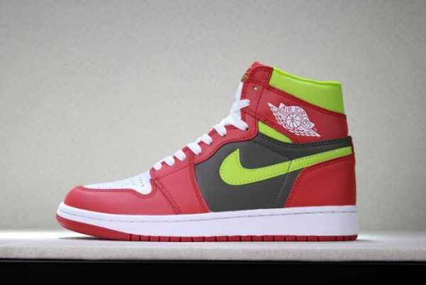Men' s and Women' s Air Jordan 1 Retro High OG White/Red/Dark Green 555088-024