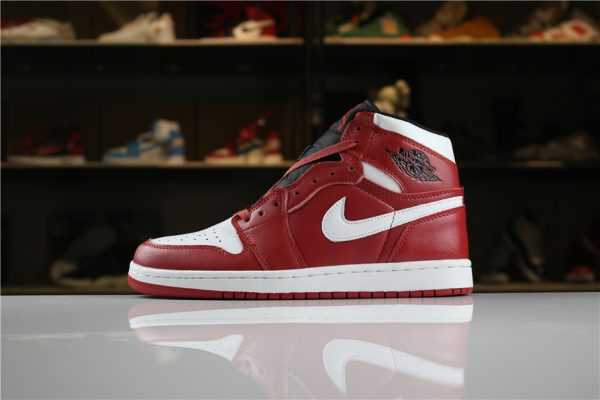 "Air Jordan 1 Mid ""Chicago"" Gym Red/White 554724-605 Men' s and Women' s Size"