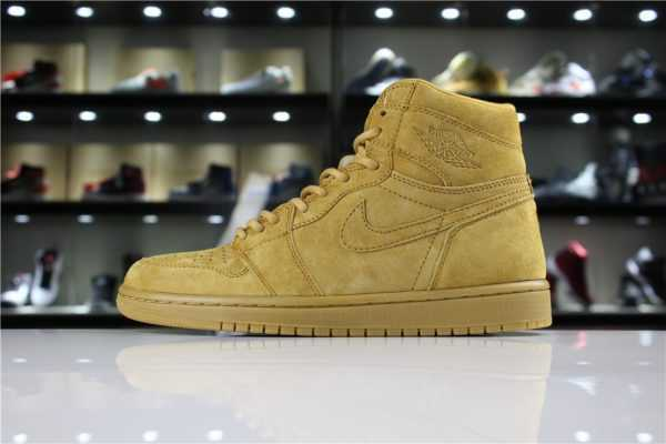 "Air Jordan 1 Retro High OG ""Wheat"" Golden Harvest 555088-710"