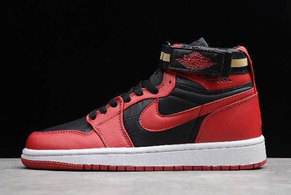 New Air Jordan 1 High Strap ' red' Black/Gym Red-White 342132-002