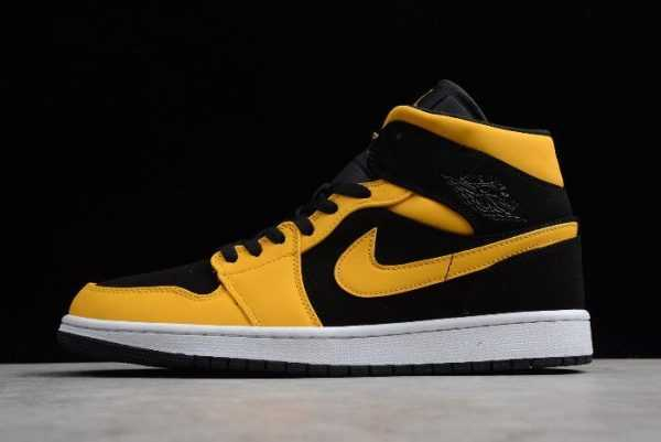 Air Jordan 1s Mid ' everse New Love' Black/University Gold-White 554724-071