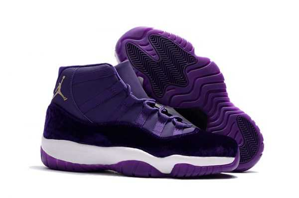2018 New Air Jordan 11s ' urple Velvet' Shoes Hot Sale