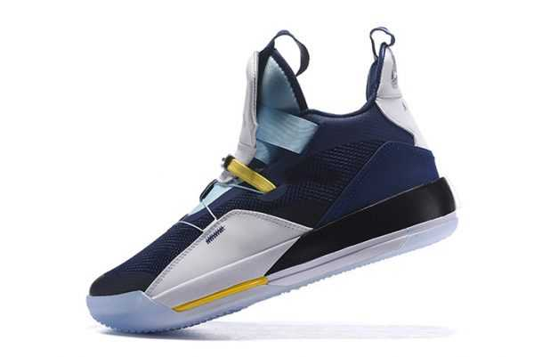 2018 Air Jordan 33 Navy Blue/White-Mint Green-Yellow For Sale