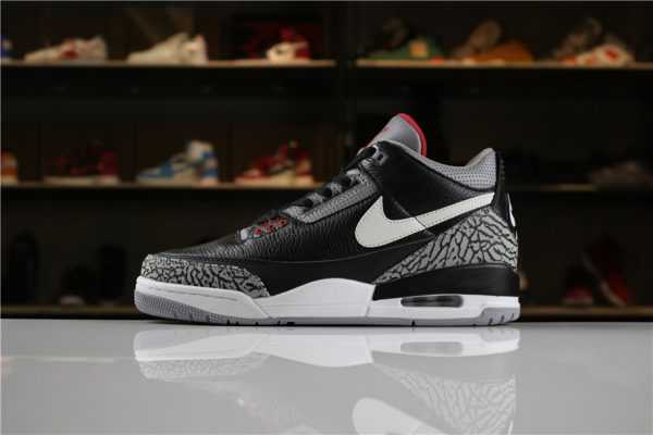 "Air Jordan 3 ""JTH"" Black Cement AV6683-001 For Sale"