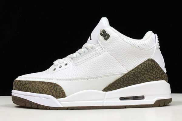 New Air Jordan 3 Retro ' ocha' White/Chrome-Dark Mocha 136064-122