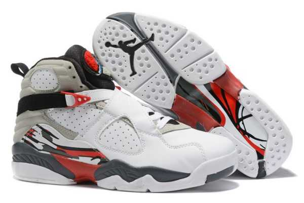 New Air Jordan 8 White/Black-True Red On Sale 305381-103